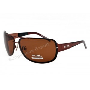 Mens Polarized Sunglasses Brown Smoke Lenses