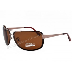 Matrix Collection Polarized Sunglasses Brown Smoke Lenses