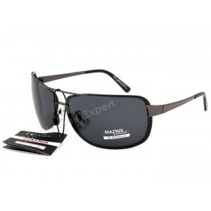 Matrix Collection Polarized Sunglasses Grey Smoke Lenses