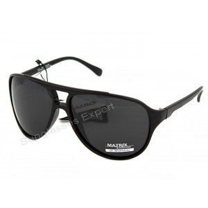 Matrix Retro Aviator Style POLARIZED Sunglasses, grey lenses