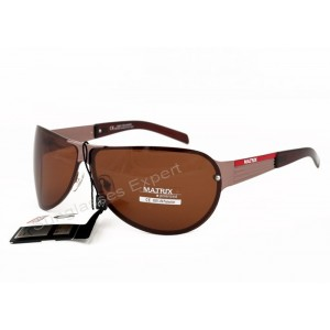 Matrix Aviator Style Polarized Sunglasses Brown Lenses